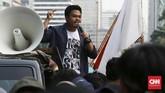 Mahasiswa telah menyiapkan surat audiensi untuk melakukan dialog terbuka dengan Presiden pada tanggal 21 Oktober nanti. (CNN Indonesia/Andry Novelino)