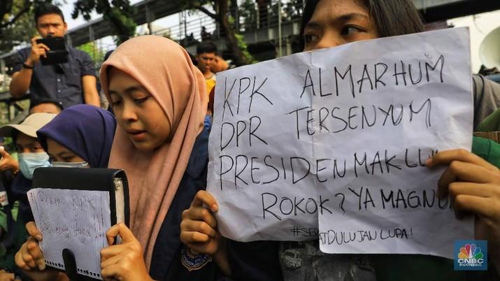 Mahasiswa dari sejumlah universitas di Jakarta dan sekitarnya, bakal menggelar demonstrasi kembali Senin (28/20/2019).