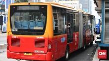 Sopir Diduga Mengantuk, Dua Bus Transjakarta Tabrakan