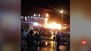 VIDEO: Mal Terbakar Usai Gempa Guncang Filipina