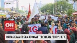 VIDEO: Mahasiswa Desak Jokowi Terbitkan Perppu KPK