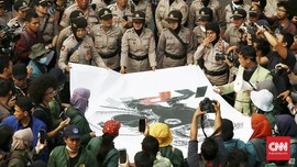 Demo di Hari Sumpah Pemuda, Massa Borak Tolak Pelemahan KPK