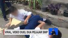 VIDEO: Viral Video Duel Dua Pelajar SMP