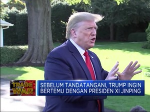 Trump Belum Mau Teken Kesepakatan Dagang dengan China
