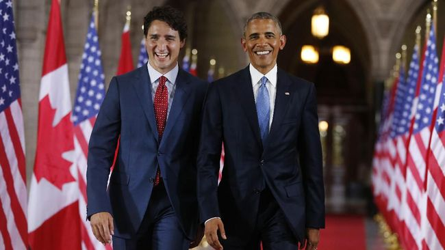 Barack Obama Serukan Dukungan terhadap Justin Trudeau