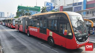 Layanan Transjakarta Kembali Normal, Dua Koridor Dialihkan