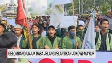VIDEO: Gelombang Unjuk Rasa Jelang Pelantikan Jokowi-Maruf