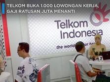 Telkom Buka 1.000 Lowongan Kerja, Gaji Ratusan Juta Menanti
