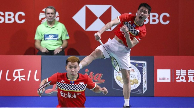 Kevin/Marcus akan menghadapi duel All Indonesian Final lawan Mohammad Ahsan/Hendra Setiawan di babak final. (dok. PBSI).