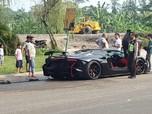 Ini Penampakan Lamborghini Raffi Ahmad yang Hangus Terbakar