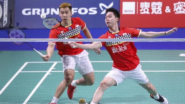 Kevin Sanjaya Sukamuljo/Marcus Fernaldi Gideon berhasil lolos ke final setelah menaklukkan Lu Ching Yao/Yang Pao Han di babak semifinal. (dok. PBSI)