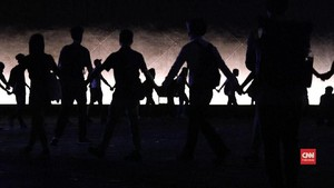 VIDEO: Pedemo Hong Kong Bentuk Rantai Manusia