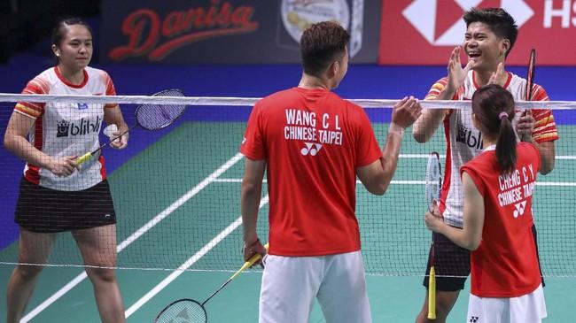 Praveen Jordan/Melati Daeva berhasil lolos ke final setelah mengalahkan Wang Chi-Lin/Cheng Chi Ya di babak semifinal. (dok. PBSI)