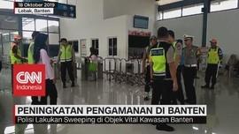 VIDEO: Polisi Lakukan Sweeping di Objek Vital Kawasan Banten