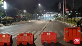 Jelang Pelantikan Jokowi, Akses Jalan ke Istana Mulai Ditutup