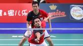 Mohammad Ahsan/Hendra Setiawan hanya mampu dua kali menang dalam 11 pertemuan melawan Kevin Sanjaya Sukamuljo/Marcus Fernaldi Gideon. (dok. PBSI)