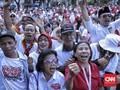 Gemuruh Ribuan Relawan Saat Pidato Jokowi Sebut Prabowo