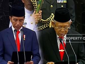 Ucapkan Sumpah, Jokowi-Ma'ruf Sah Jadi Presiden & Wapres RI