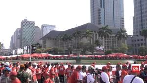VIDEO: Bendera Merah Putih Raksasa untuk Jokowi/Ma'ruf