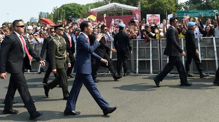 oko Widodo (Jokowi) dan Ma'ruf Amin resmi dikukuhkan menjadi Presiden dan Wakil Presiden Republik Indonesia periode 2019 - 2024