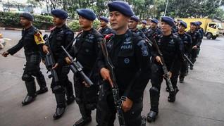 Brimob Antisipasi Demo Hari HAM Sedunia di Jayapura