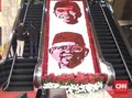 Bunga-bunga Parlemen Sambut Pelantikan Jokowi-Ma'ruf
