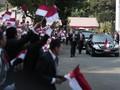 Konvoi Jokowi Dikawal Moge dan Mobil Mewah 'Pelat Merah'
