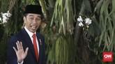 Presiden terpilih Joko Widodo tiba untuk mengikuti upacara pelantikan presiden dan wakil presiden periode 2019-2024 di Gedung Nusantara, Kompleks Parlemen, Senayan, Jakarta, Minggu (20/10/2019). (CNN Indonesia/Andry Novelino)