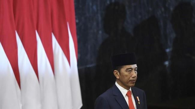 Jokowi resmi menjabat di periode kedua sebagai Presiden. Ia didampingi Ma'ruf Amin sebagai Wakil Presiden menggantikan Jusuf Kalla. ANTARA FOTO/Akbar Nugroho Gumay/hp.