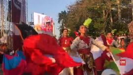 VIDEO: Lenggok Ratusan Penari Meriahkan Pesta Rakyat Jokowi