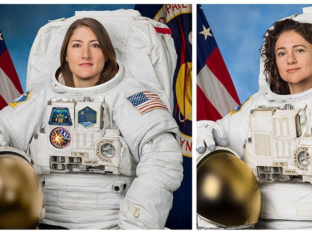 Mereka adalah tim astronaut pertama yang semuanya wanita yang melakukan spacewalk di luar stasiun antariksa, International Space Station (ISS). Namanya Christina Koch dan Jessica Mei. Foto: Reuters