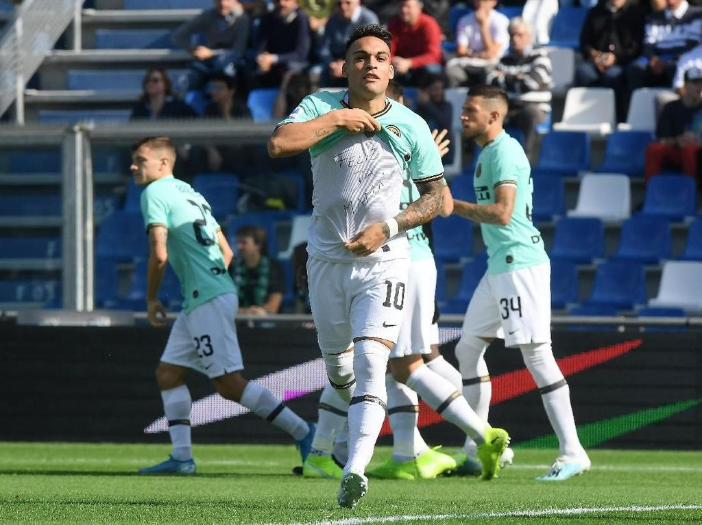 Empat gol Inter dicetak oleh Romelu Lukaku dan Lautaro Martinez yang masing-masing bikin dua gol.