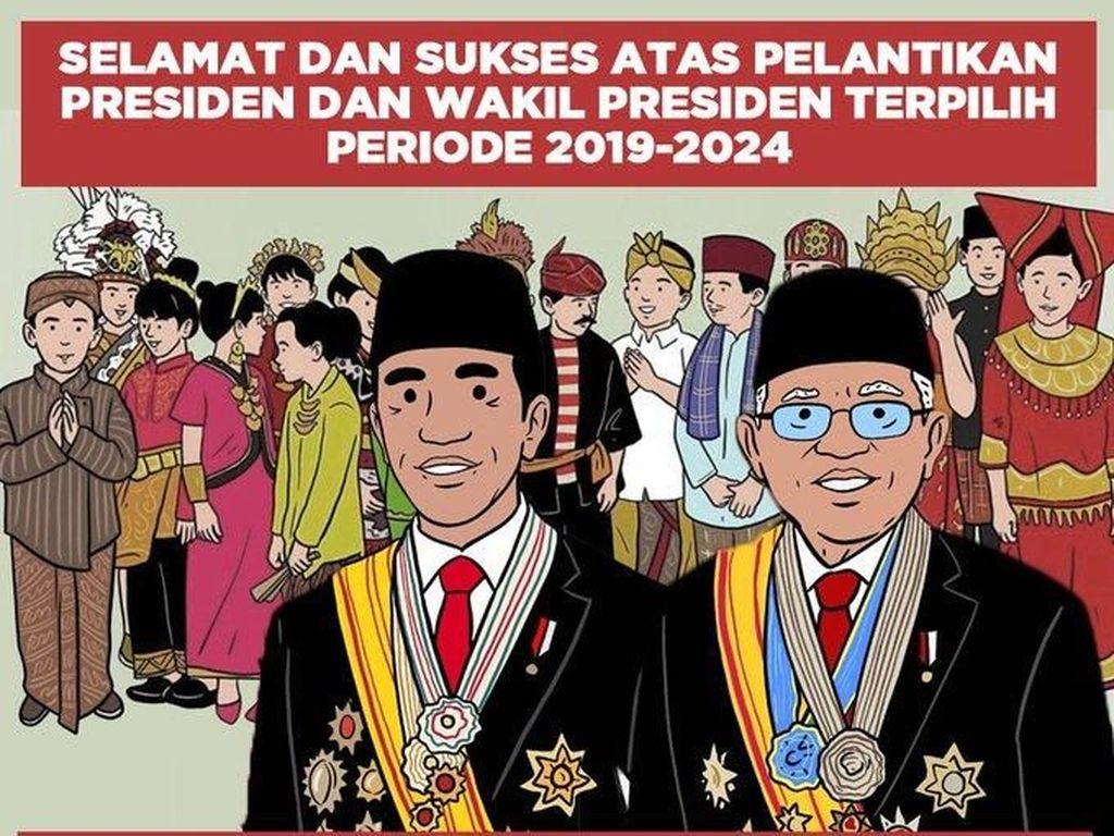Tema kebhinekaan jadi meme yang menarik. Pesan ini menegaskan Indonesia adalah milik berbagai suku (Twitter)