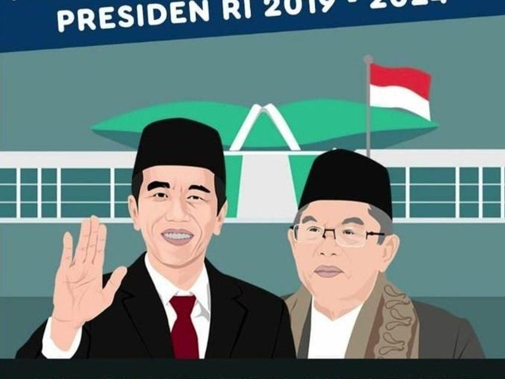 Ada juga meme yang mengkritik pihak yang anti pelantikan Jokowi-Maruf (Twitter)