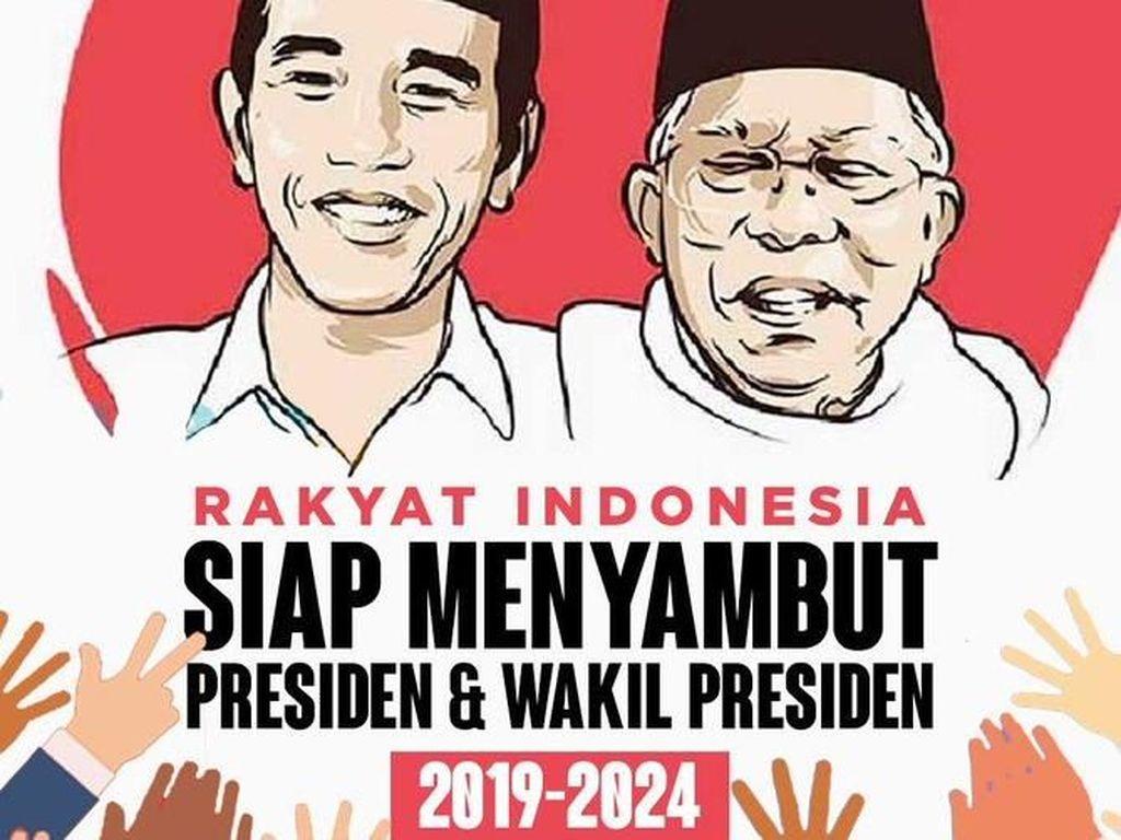 Meme dukungan kepada Jokowi-Maruf Amin (Twitter)