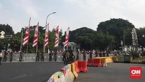 Akses ke Istana Dihalau Kawat Berduri, Polisi Jaga Ketat