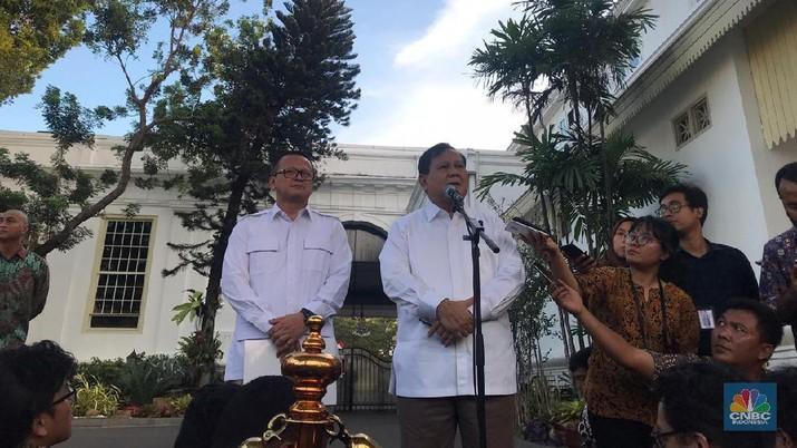 Prabowo dan Edhy sudah menemui Jokowi.