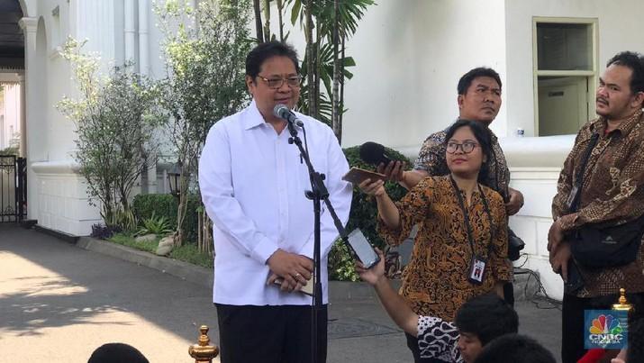 Airlangga menyampaikan bocoran pertemuanya dengan Presiden Jokowi.