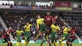 Bournemouth dan Norwich City imbang tanpa gol di StadionVitality, Sabtu (19/10).(Mark Kerton/PA Wire)