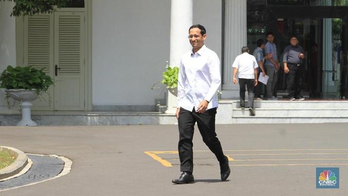 Nadiem Makarim resmi menjadi menteri pendidikan dan kebudayaan (mendikbud) dalam kabinet Indonesia Maju 2019-2024.
