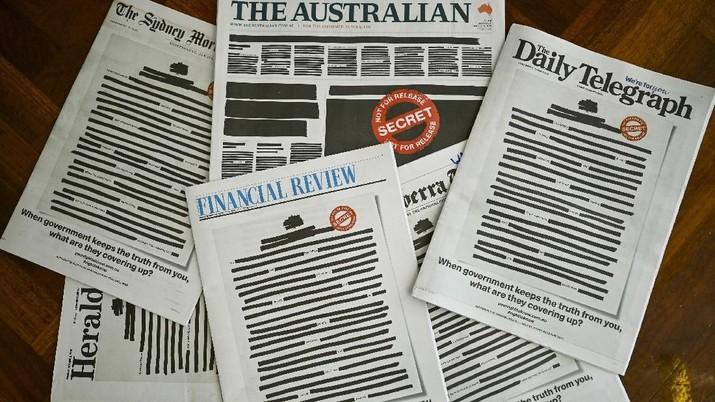 Kebebasan Pers 'Dikebiri', Koran Australia Kompak Protes