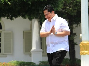 Detik-Detik Kedatangan Erick Thohir ke Istana Merdeka