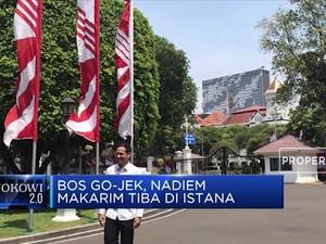 Bos Gojek, Nadiem Makarim Tiba di Istana