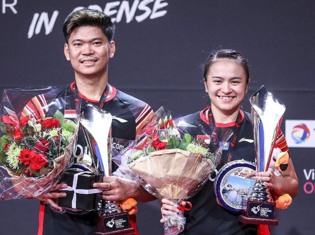 Senyum Cerah Praveen/Melati dan Kevin/Marcus Gondol Juara Denmark Open