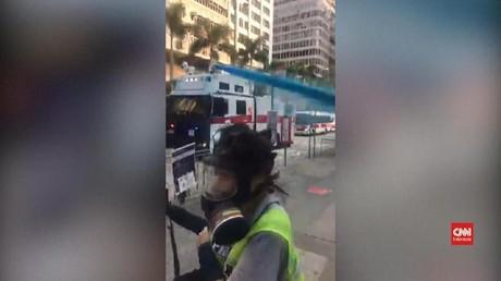 VIDEO: Masjid Hong Kong Ditembak Meriam Air