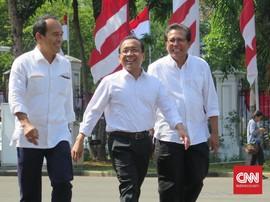 Pratikno, Fadjroel Rahman, Nico Harjanto Sambangi Istana