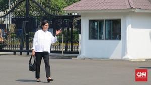 Sri Mulyani Orang Pertama yang Datangi Istana Hari Ini