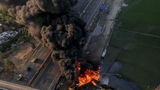 Operator Tewas Akibat Kebakaran Pipa Pertamina di Cimahi
