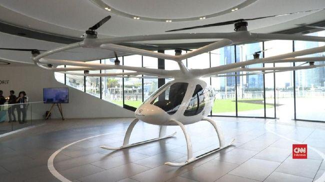 Grab Gandeng Volocopter Uji Coba Layanan Taksi Udara