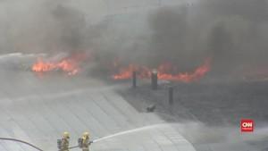 VIDEO: Proyek Gedung Terbakar di Selandia Baru